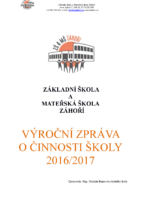 Výroční zpráva o činnosti školy 2016-2017