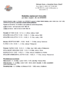 zájmové kroužky 2018 – 2019