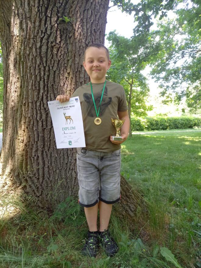 Úspěch v myslivecké soutěži Zlatá srnčí trofej 2021